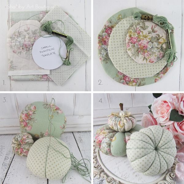 Diy Beautiful Shabby Fabric Pumpkins To Make For Autumnfall Click - Manualidades-shabby-chic