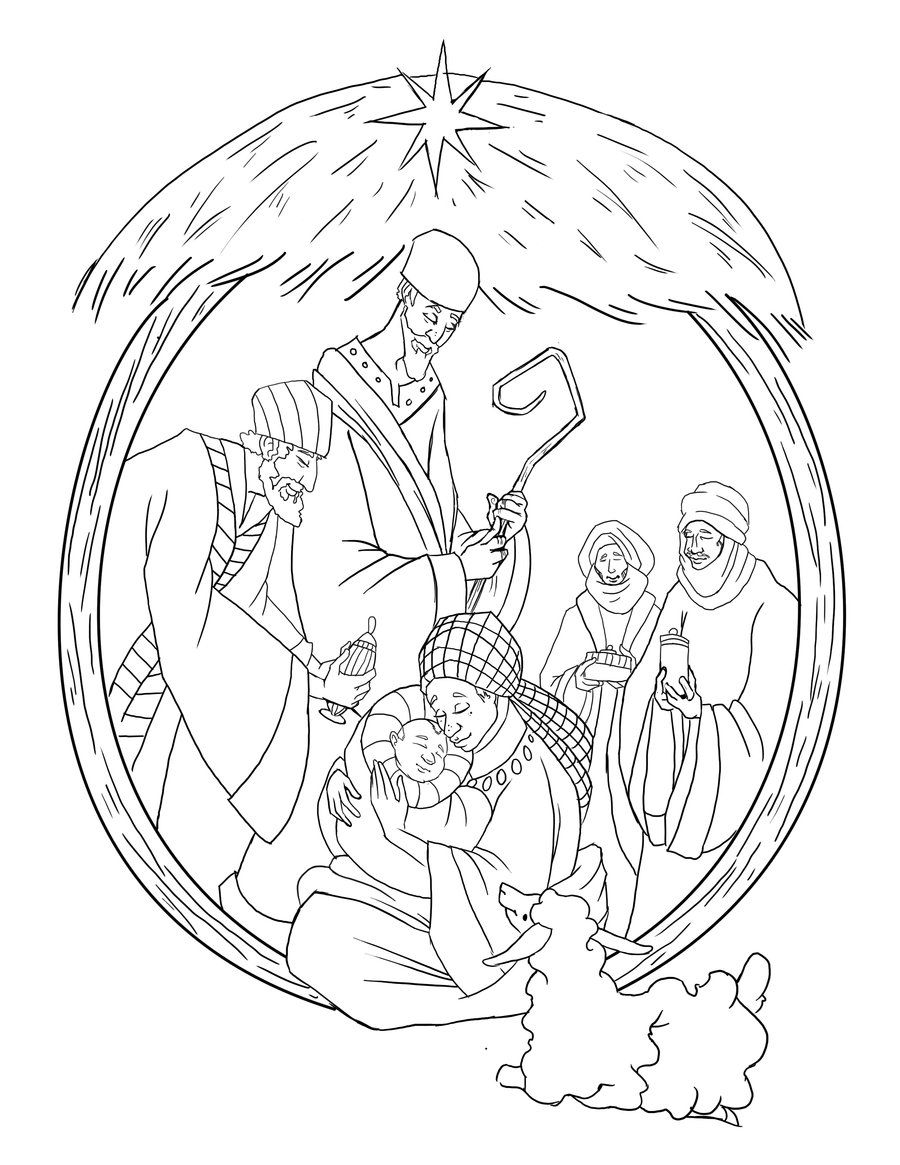 Printable nativity coloring pages | Christmas | Pinterest