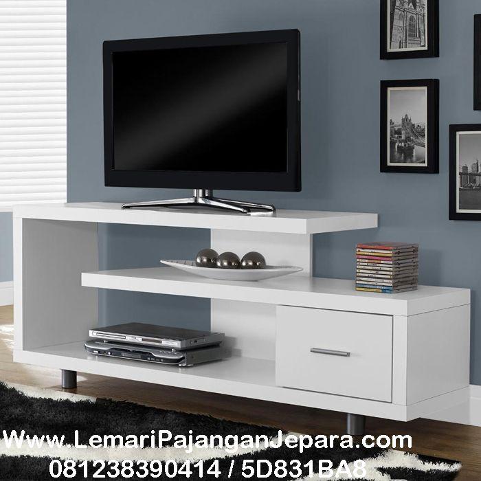 Bufet Tv Minimalis Cat Putih Duco Dekorasi Apartemen Kecil Tv