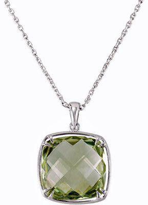 Fabulous Genuine Gemstone Green Quartz Pendant for SALE at BitCoin Gems
