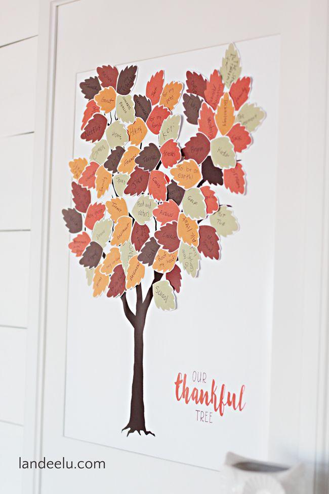 Thankful Tree Printable Thankful Tree Thanksgiving Tree Free