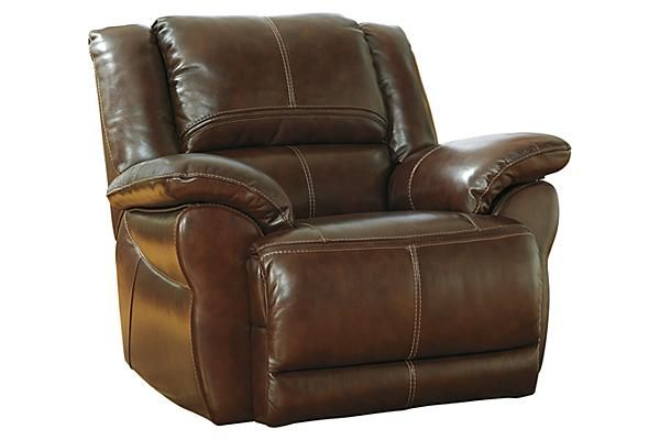The Lenoris Coffee Swivel Rocker Recliner From Ashley Furniture Homestore Afhs Com Leather Mat Signature Design By Ashley Signature Design Power Recliners