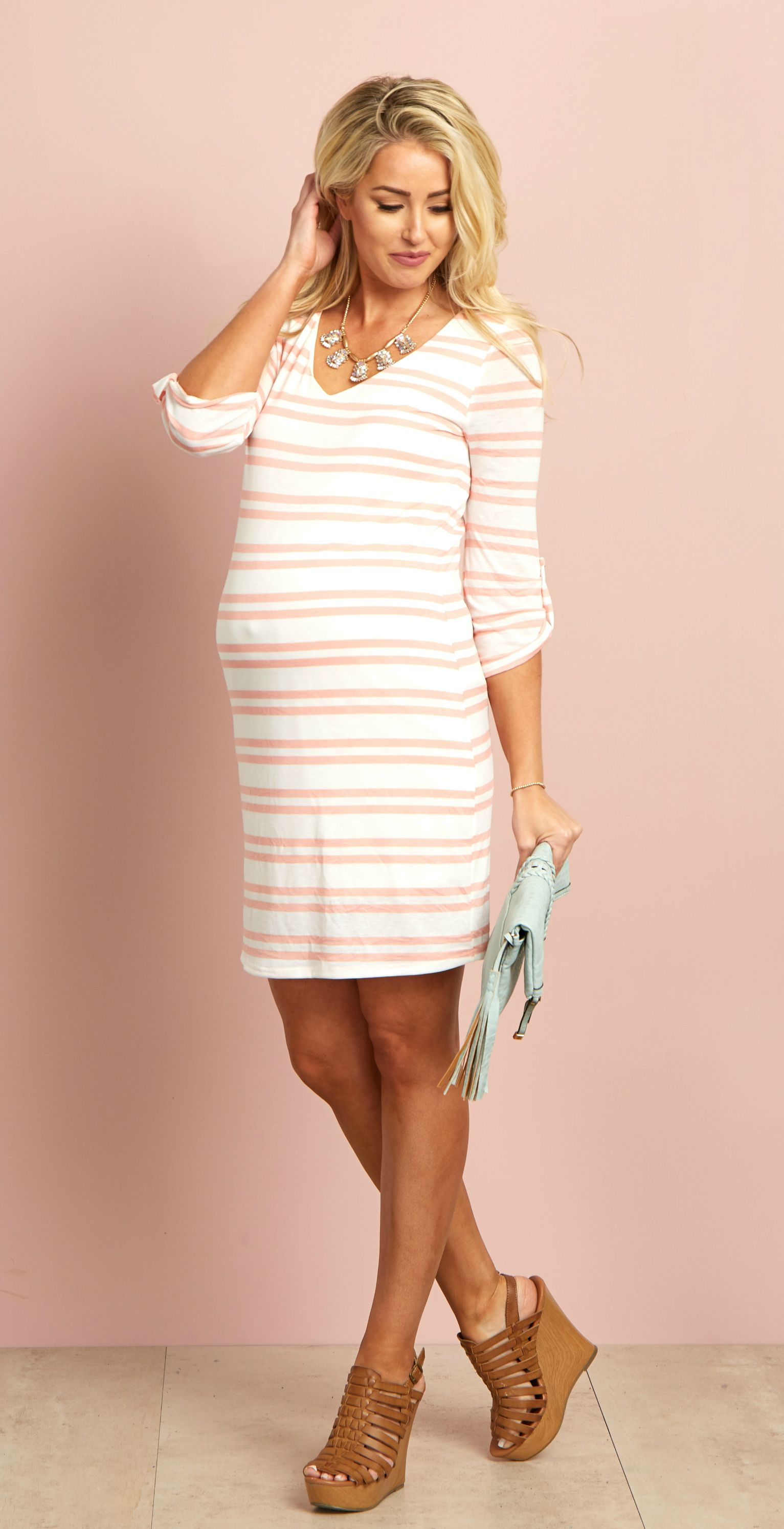 A striped piece is essential for every wardrobe fill up your spring maternity clothes for the modern mother ombrellifo Image collections