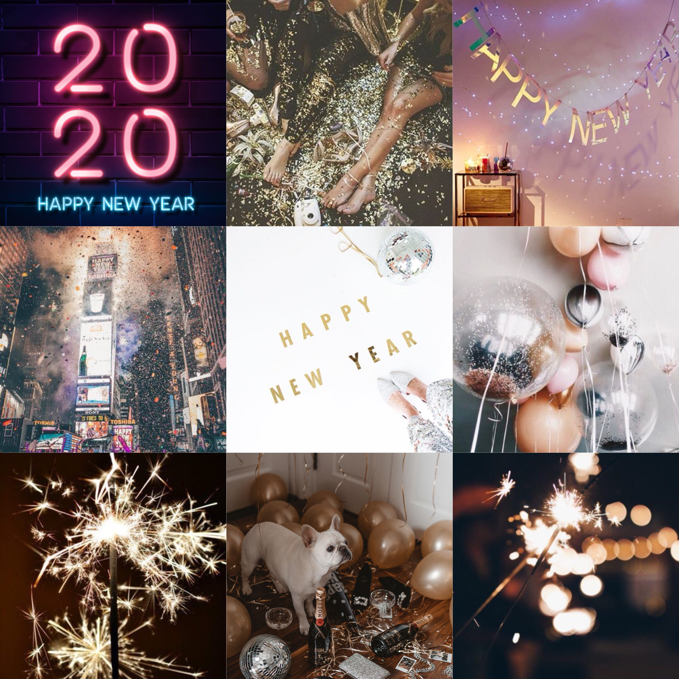 New Year's Aesthetic | Happy year, Table decorations, Decor
