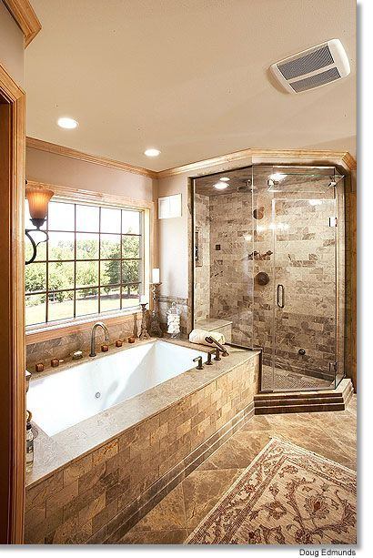 A Heated Floor A Chromatherapy Bubble Tub And A New Steam Shower Yes Please Dream Bathrooms Bathroom Design Bathrooms Remodel