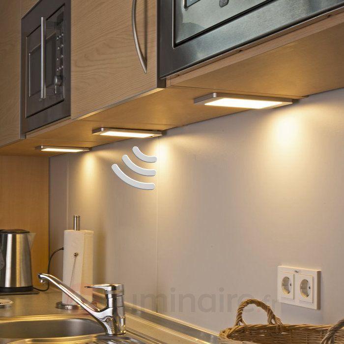 3 Lampes Sous Meuble Led Sascha Avec Détecteur Lampes Pinterest