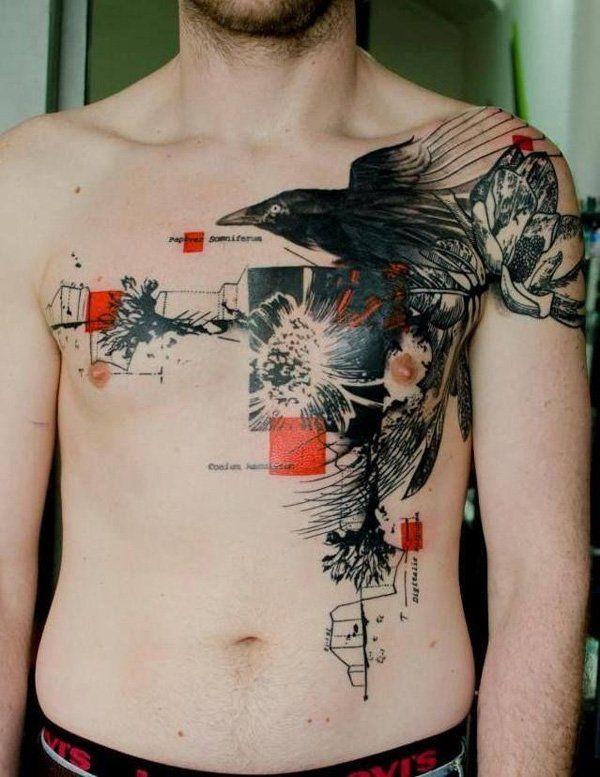 id e tatouage homme corbeau tatouage animaux pinterest tatouage tatouage abstrait et. Black Bedroom Furniture Sets. Home Design Ideas