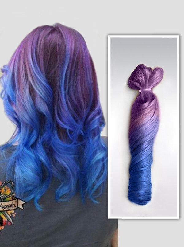 Purple Blue Ombre Mermaid Remy Clip In Hair Extensions Blog04