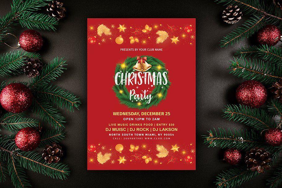 Christmas Card Template Christmas Invitations Template Christmas Card Template Christmas Flyer Template