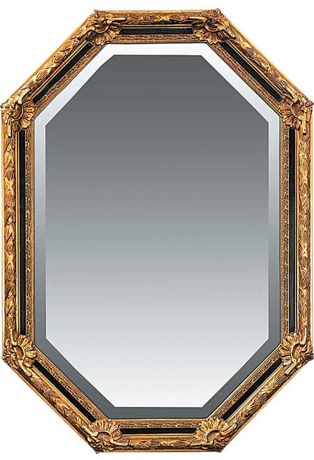 Sterling Industries Inlay Octagon In Gold Leaf Finish Mirror, 40-2376M