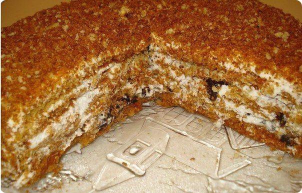 """http://okshustrypovar.blogspot.co.uk/2013/07/blog-post_9095.html  Медовый торт """"Особенный""""."""