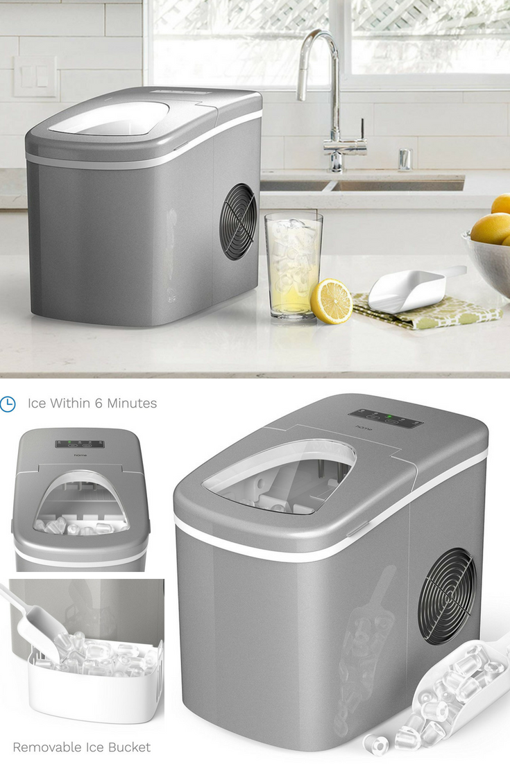 Portable Ice Power Countertop Ice Maker Produces 26 Pounds Of