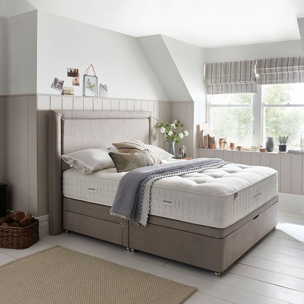 Natural Pocket 1400 Divan Bed White wooden bedroom
