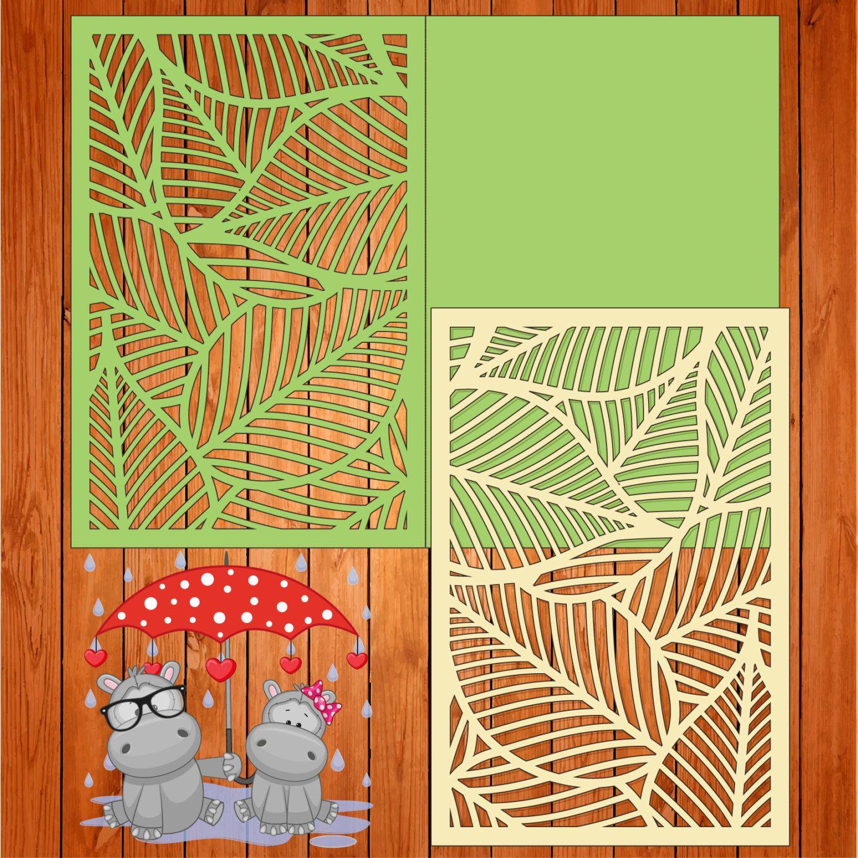 Invitación de la boda tarjeta plantilla, hojas, figuras (studio V3 ...