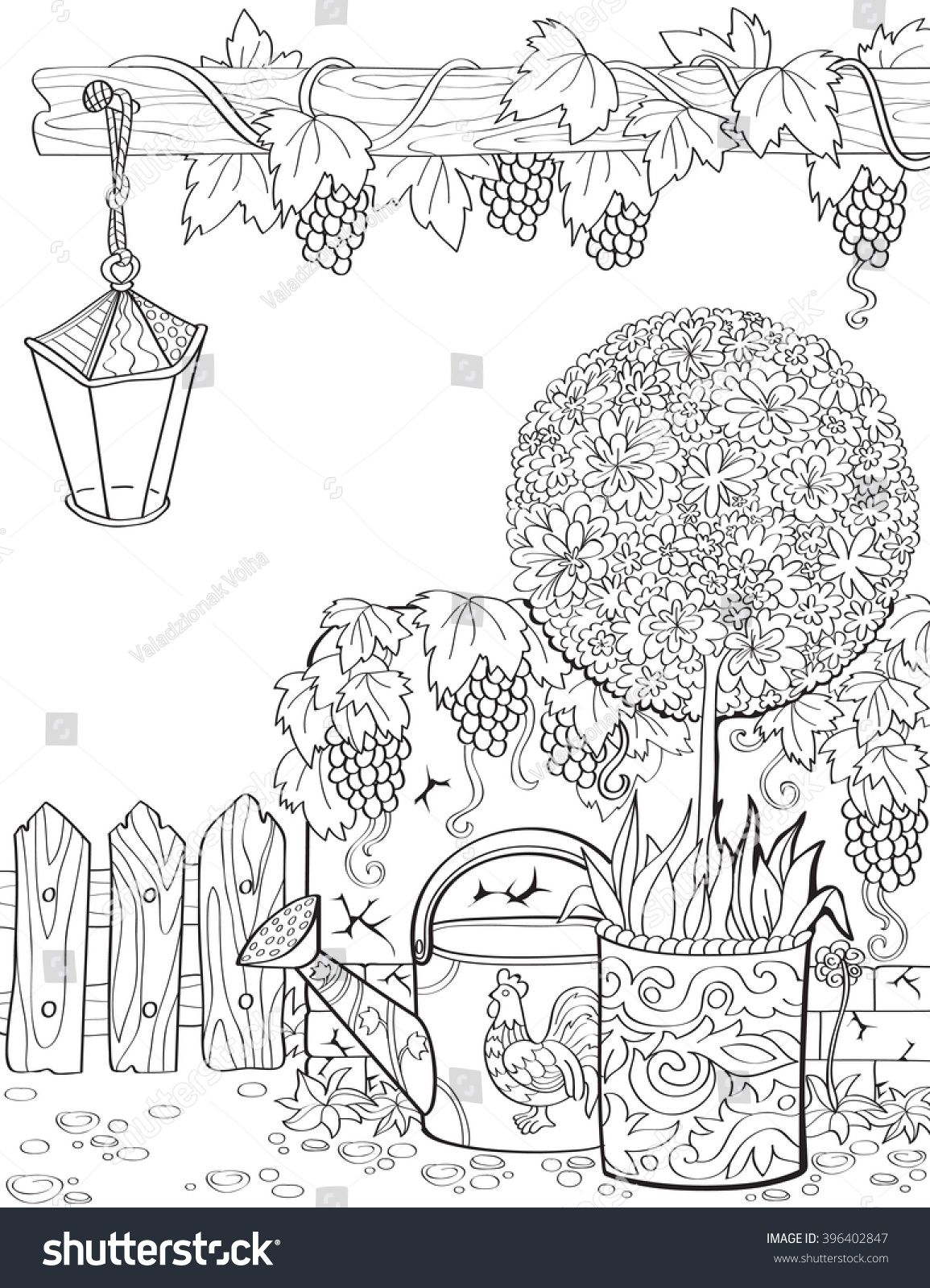 The Vine Coloring Page Yahoo Image Search Results Paper Quilling