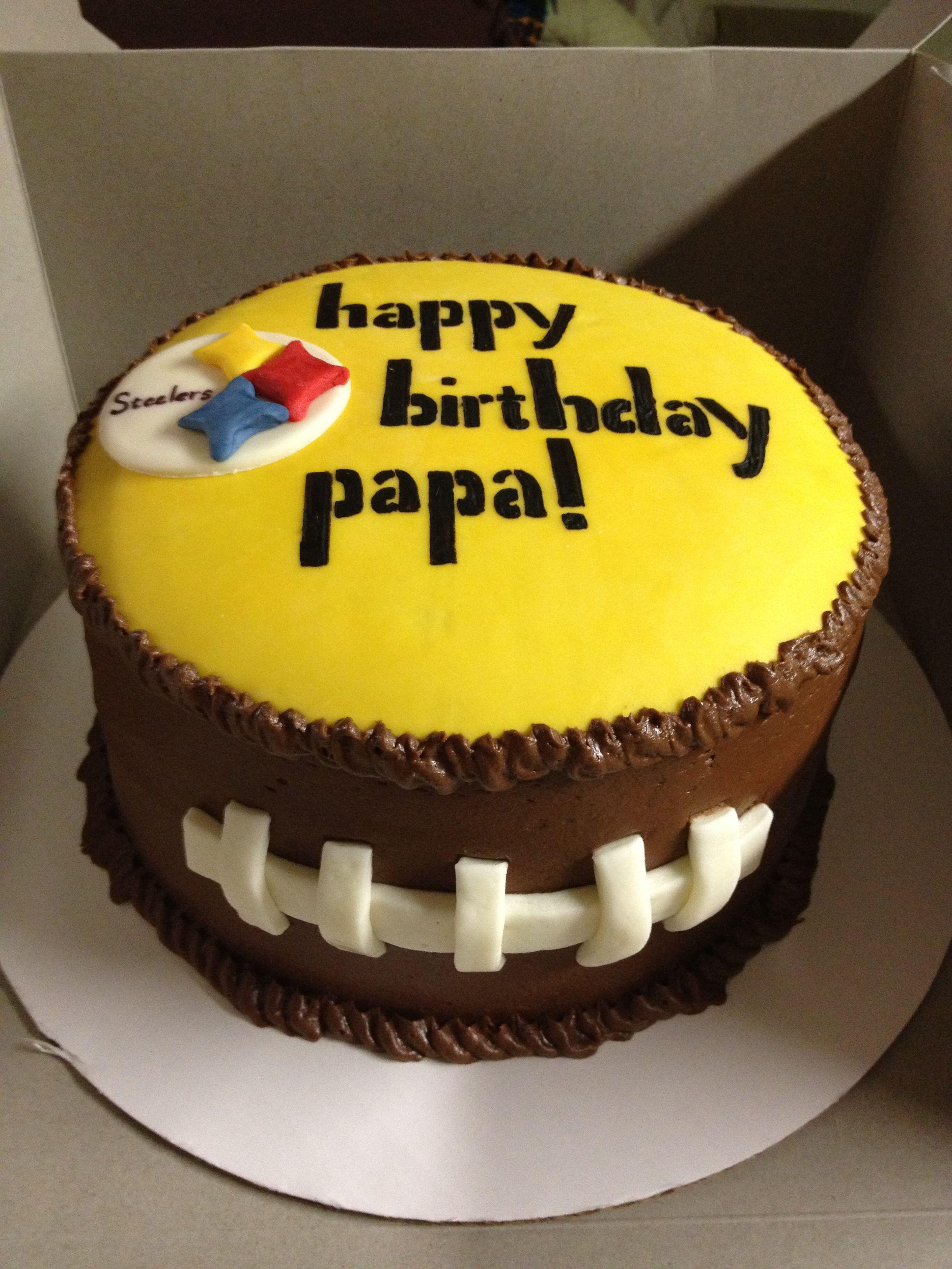 Steeler terrible towel birthday cake Cake ideas Pinterest