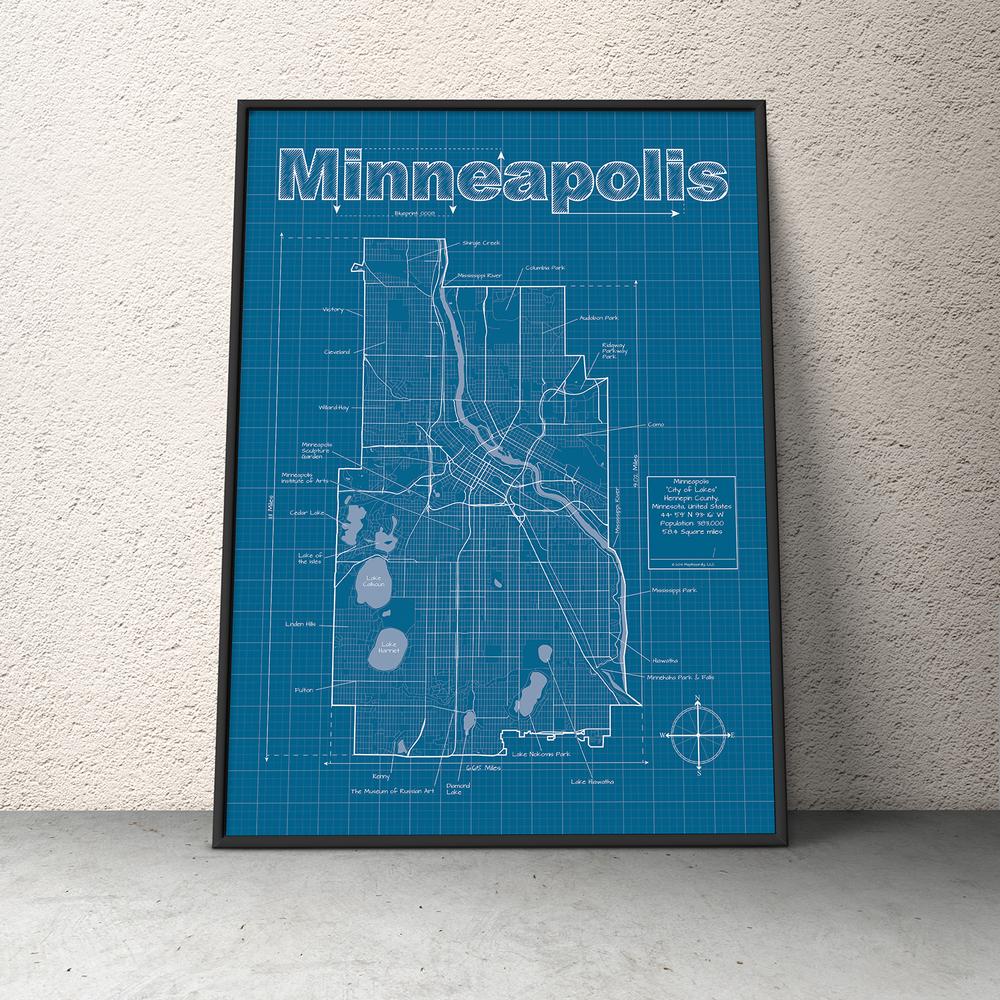 Minneapolis minnesota minneapolis city minneapolis and minneapolis city blueprint maphazardly malvernweather Choice Image