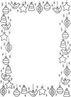Gisela S Place Bordas De Natal Em Preto E Branco Cores Do Natal