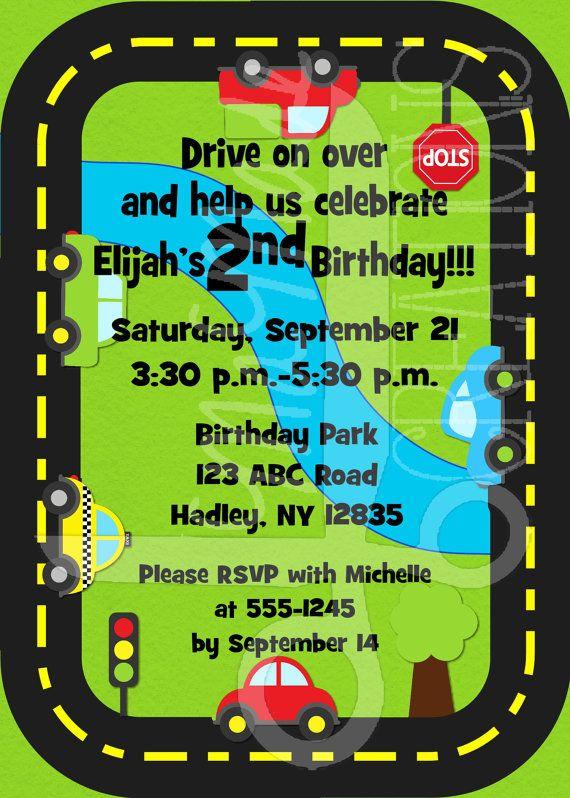 Car Themed Birthday Invitation By MaMadeCreations On Etsy 500