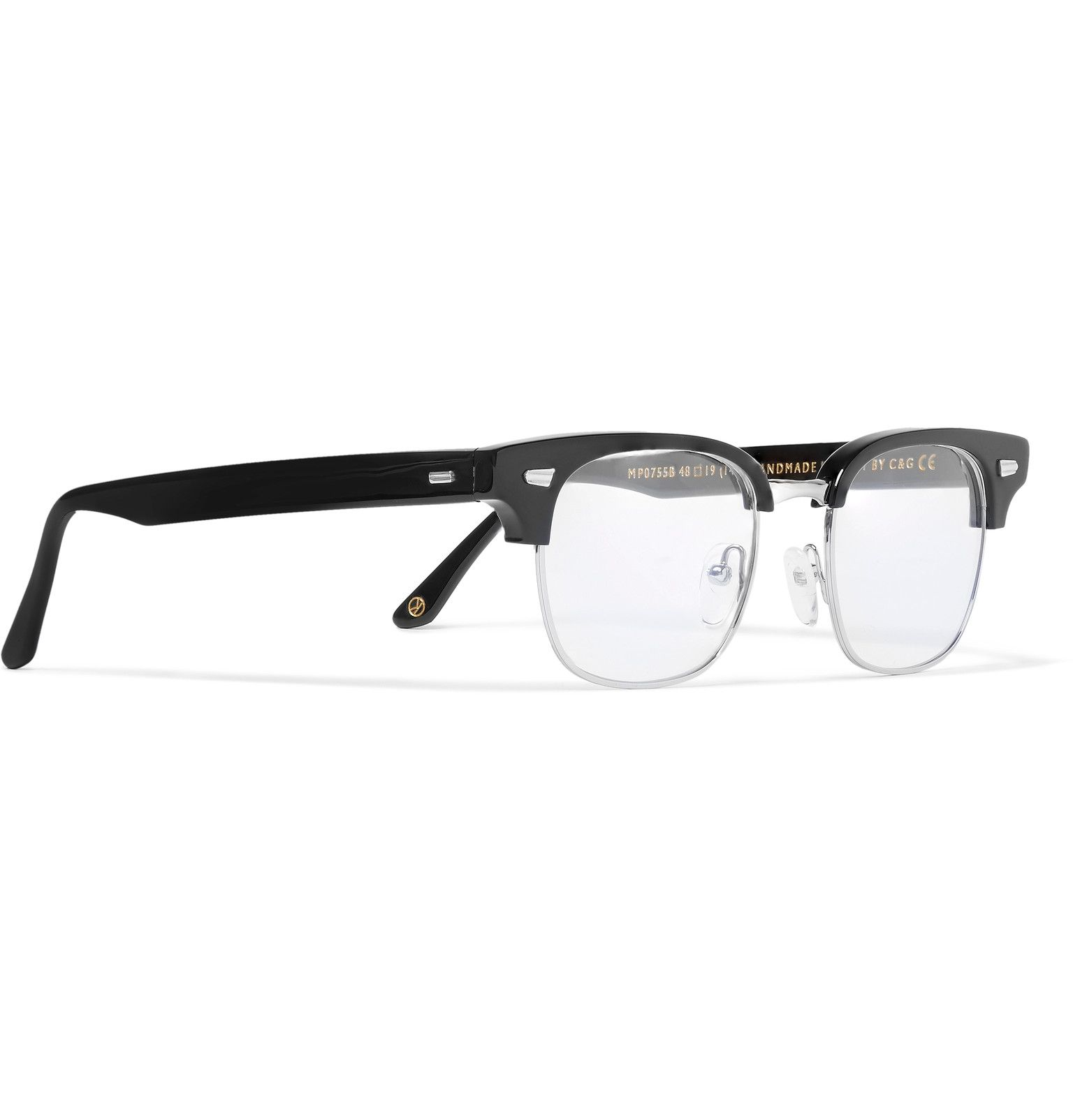 dd26516d4bd Kingsman Cutler And Gross Merlin s Square-Frame Acetate And Silver-Tone Optical  Glasses