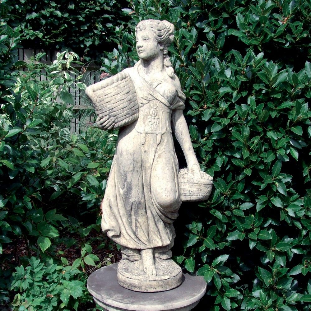Country Girl Stone Sculpture (Medium) Garden Statue. Buy Now At Http:/