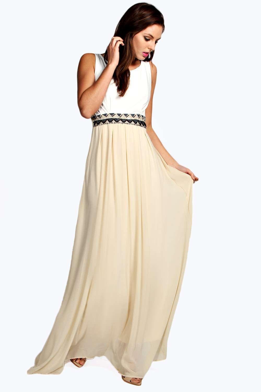 Etta embellished waist strappy back maxi dress summer favourites