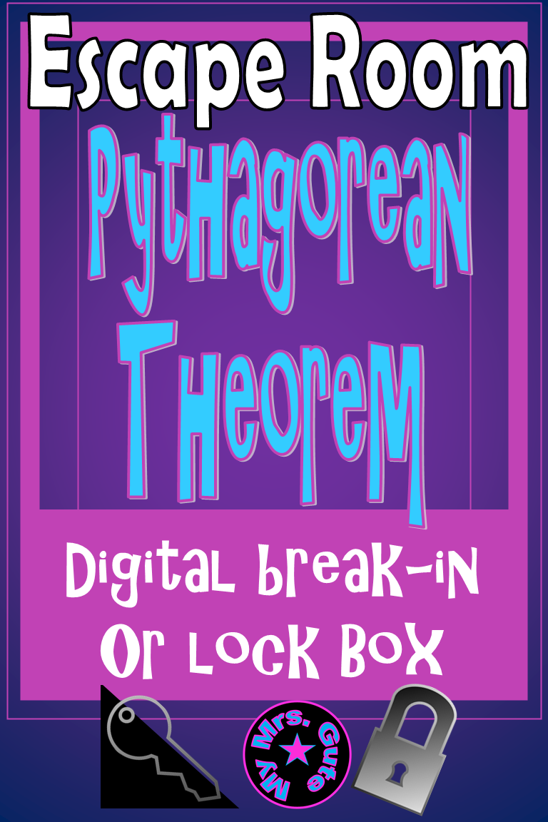 Pythagorean Theorem Escape Room | Pythagorean theorem ...