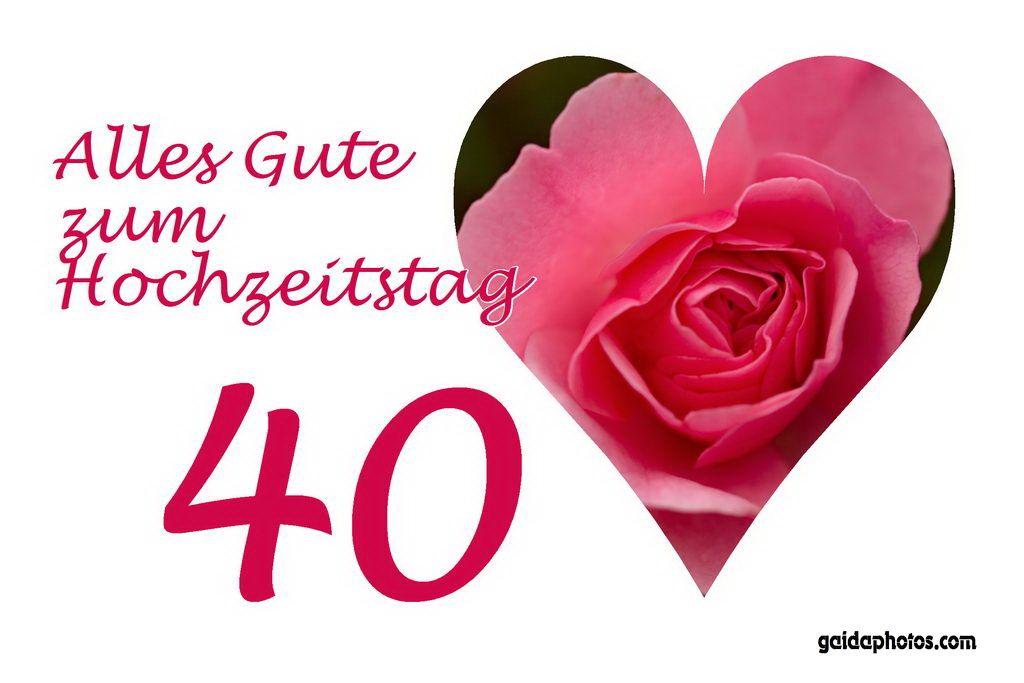 40 Hochzeitstag Rubinhochzeit Hochzeit Pinterest