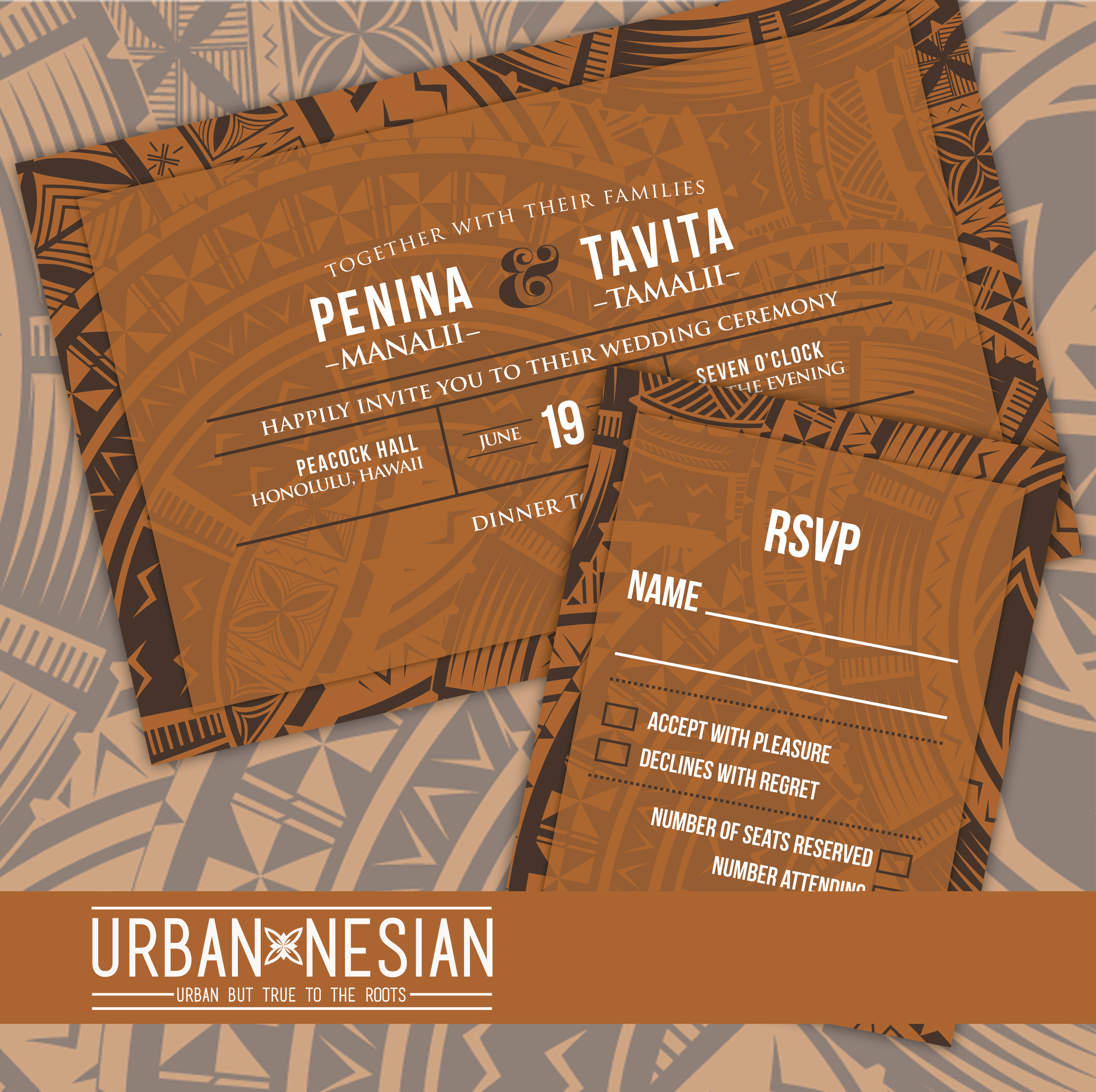 Samoan/Tongan/Fijian Wedding Invitations | Font styles, Rsvp and Fonts