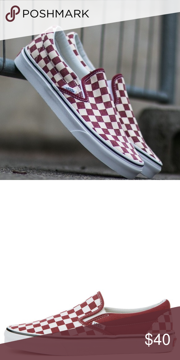 07702338e8 Checkered maroon vans never worn Never worn sadly got rid of box because I  thought I was going to wear them I can send pictures if you re interested  Shoes ...