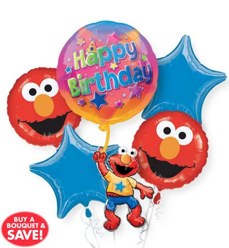 Elmo Party Supplies Elmo Birthday Party Ideas Party City Elmo Birthday Party Birthday Balloons Elmo Party Supplies