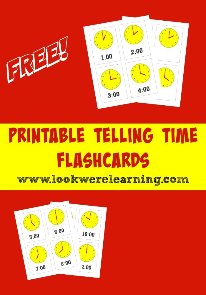 Printable Telling Time Flashcards for Kids! | ☆ Educational Blogs ...