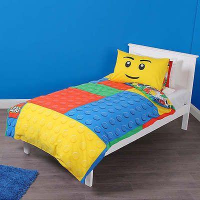 6b83688fda Lego Blocos Vermelho Azul Amarelo Reversível Colcha De Cama Dupla Doona  Cover Defina Novo