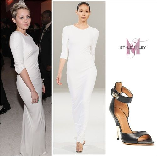Miley Cyrus in - Dress: Azzaro / Shoes: Givenchy