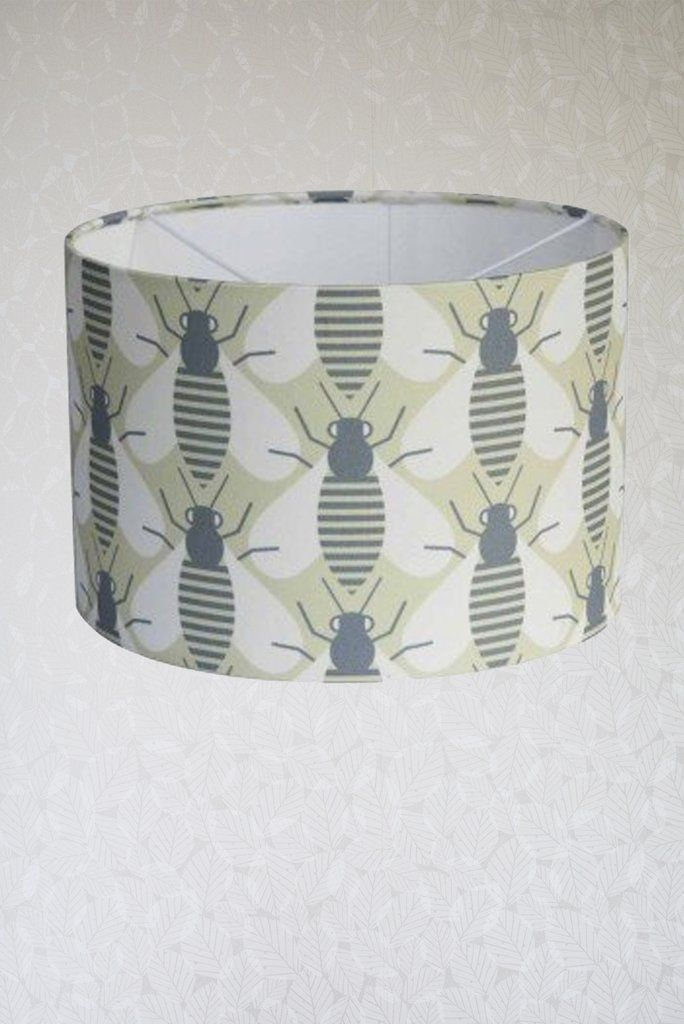 Patterned Bee Lampshade By Georgia Wilkinson