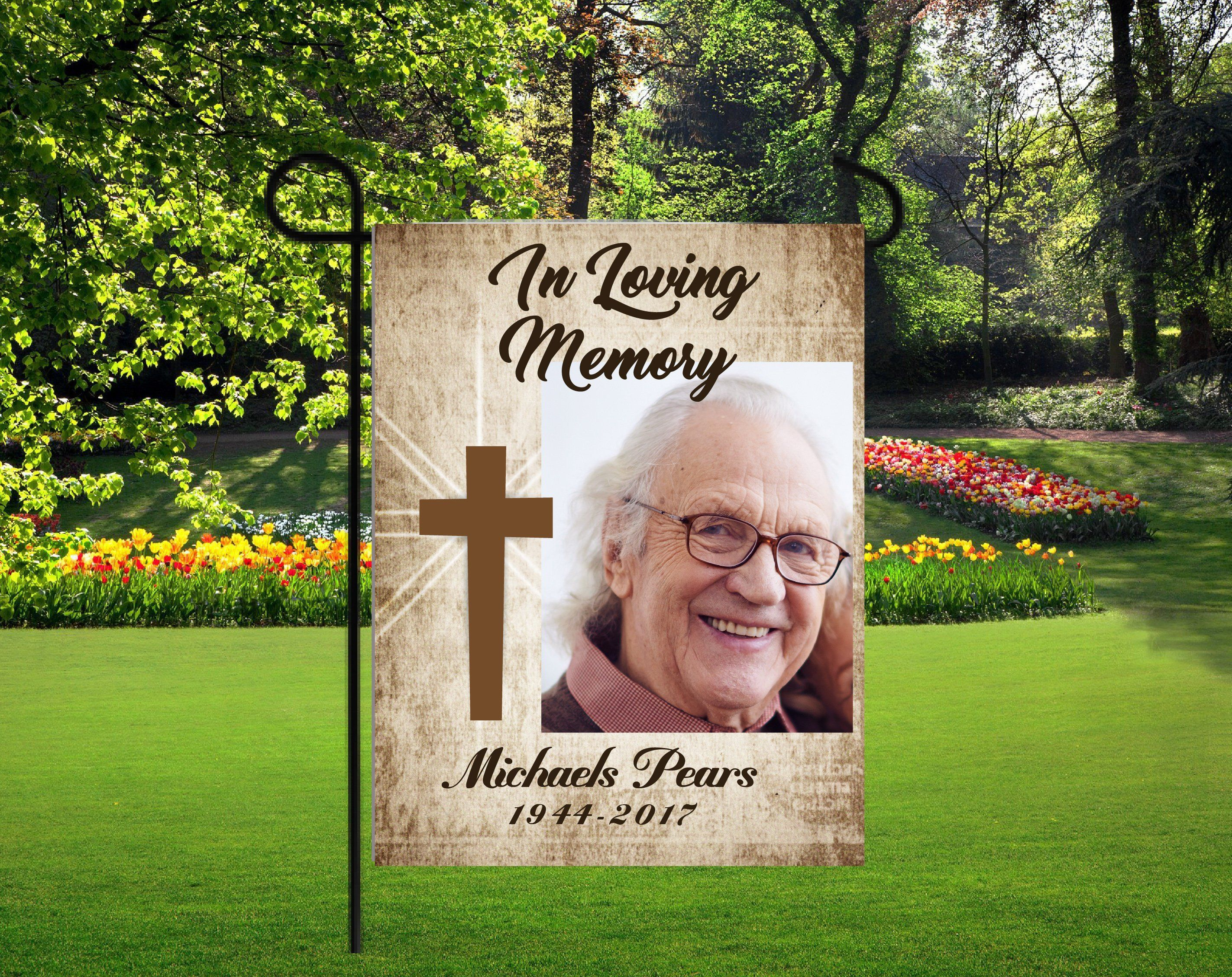 In Memory Photo Flag Personalized Memory Flag Garden Flag