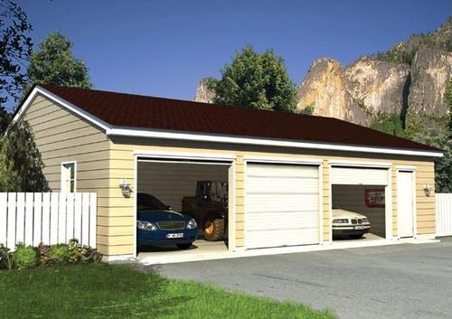 Project Plan 06012 Eave Entry Garage At Menards Garage Apartment Plans Garage Building Plans Garage Design