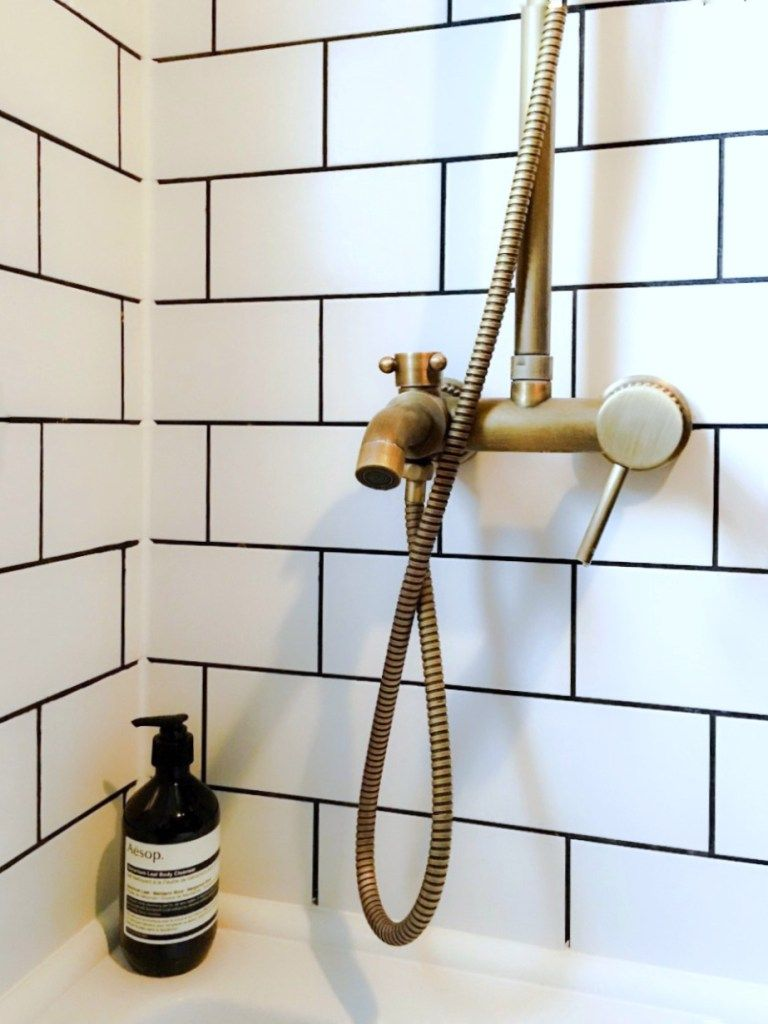 Home Interior Decor Ideas Metro Tile Brass Bath Fitting Bathroom Tile Bathroom Metro Tiles Bathroom Brass Bathroom