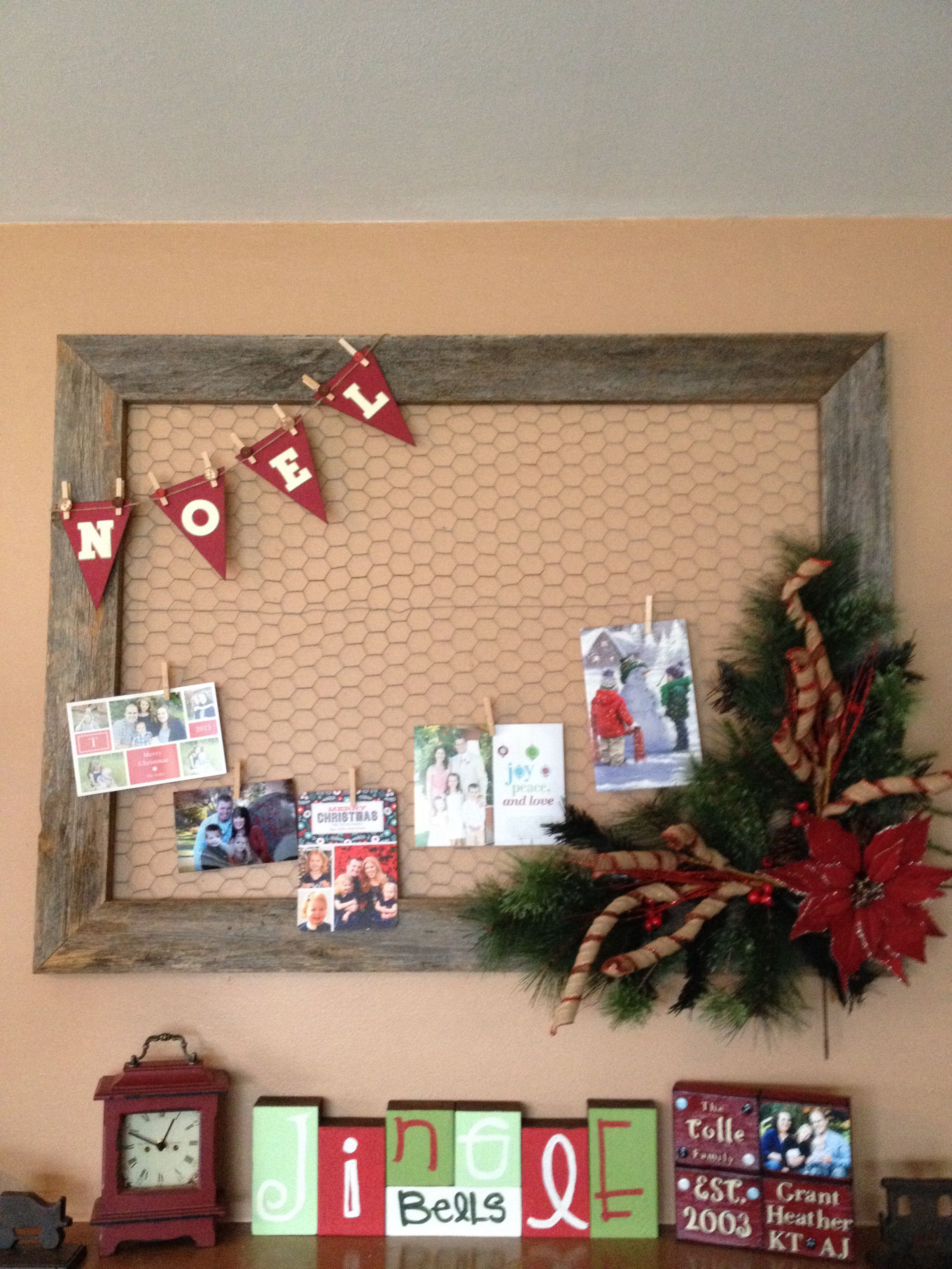 I made my own Christmas card holder! | Winter/Christmas/New Year\'s ...