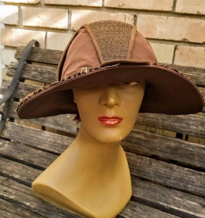 4fffd5c0ca6 Vintage Antique Edwardian 1910s-1920s Satin Cloche Hat - ANDREA OF PARIS -  Exquisite!