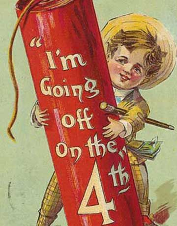 July 4th Crafting with Victorian Postcards