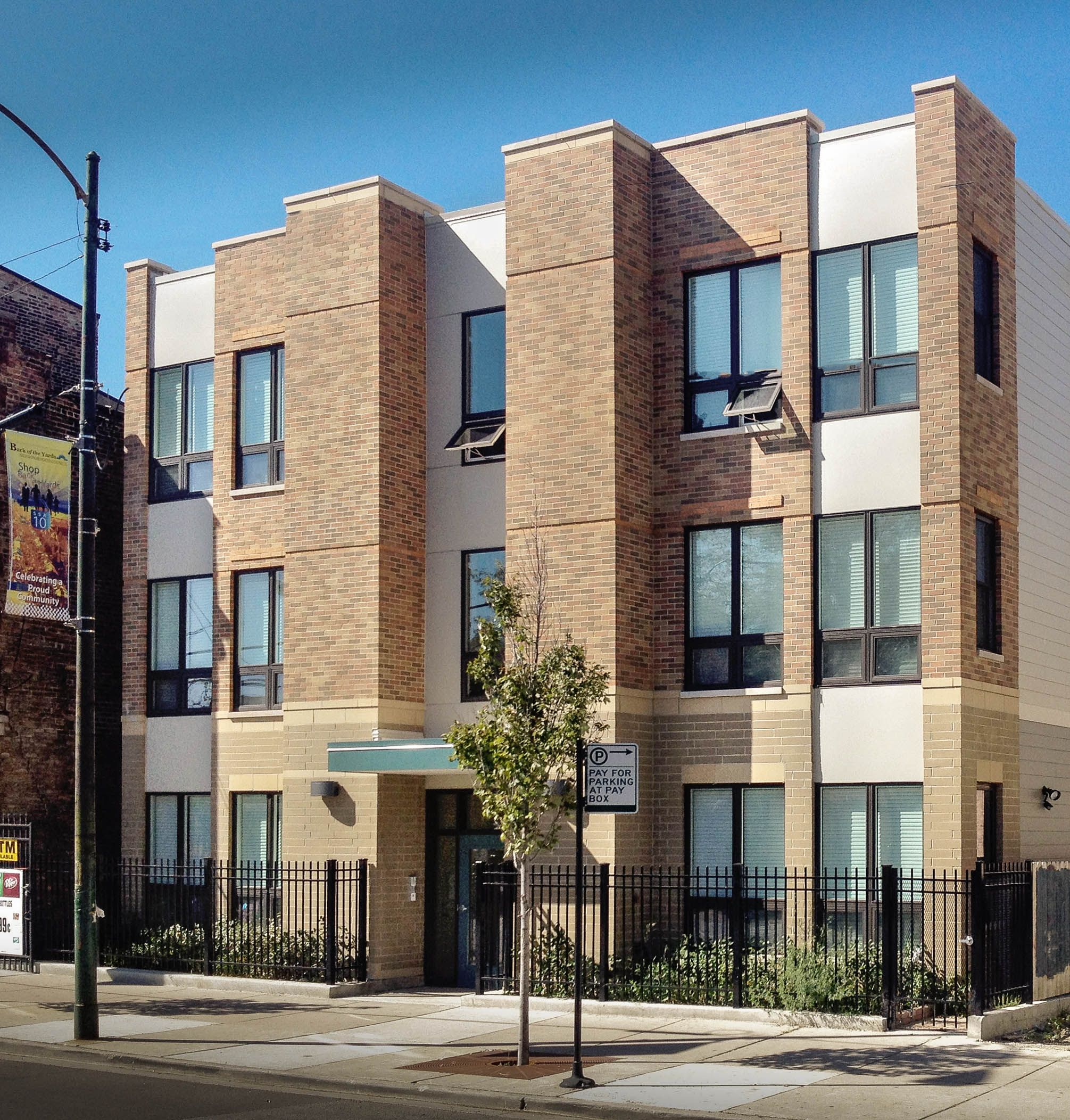 This Chicago Area Project Features Calstar Products On The Exterior Affordable Housing Brick Design Design