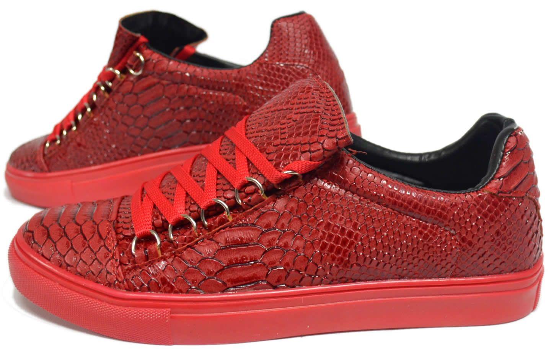 Heren Rode Python Sneakers HCS057 | Modedam.nlDe mooiste heren schoenen  bestelt u in onze