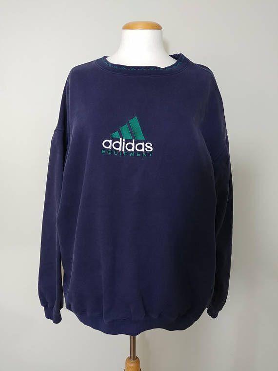 Vintage Adidas Equipment Big Logo Sweatshirt Big Logo Three Vintage Adidas Clothes Sweatshirts