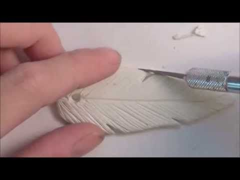 Photo of Polymer Clay Feather Pendant Tutorial (Part 1 of 2)