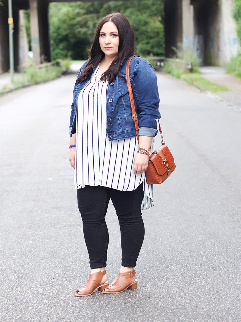 Streifen Bluse Casual outfit