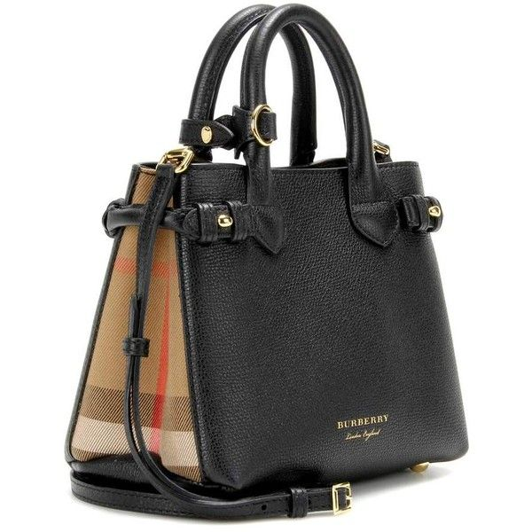 691c6e14d8 Burberry London England The Baby Banner Leather Shoulder Bag ($1,280) ❤  liked on Polyvore featuring bags, handbags, shoulder bags, burberry handbags,  ...