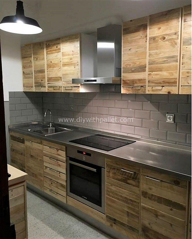 Fresh Diy With Wood Pallet Ideas Diy Kitchen Remodel Pallet Kitchen Cabinets Kitchen Plans