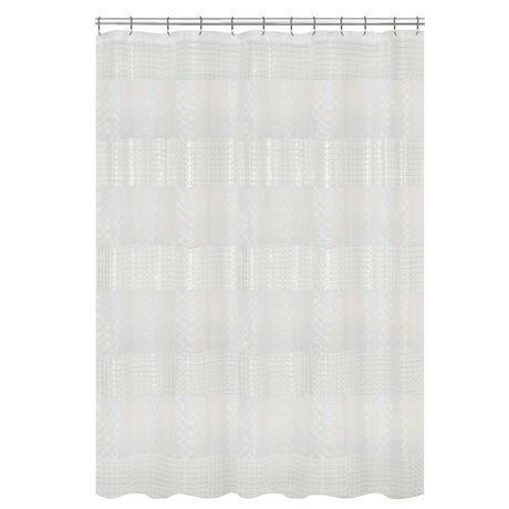 Mainstays Lenticular Holo Peva Shower Curtain Clear Curtains