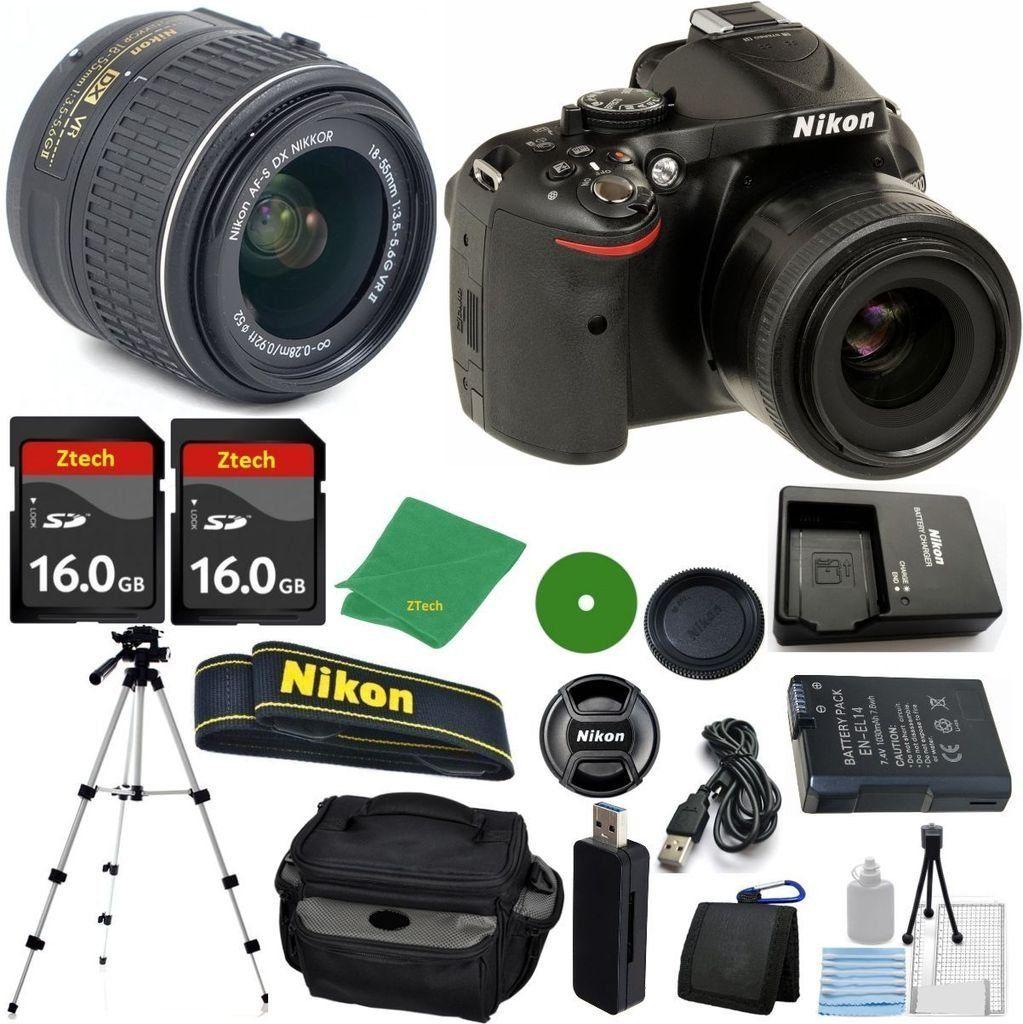 Nikon D5200 24 1 Mp Cmos Digital Slr Nikkor 18 55mm F 3 5 5 6 Auto Focus S Dx Vr 2pcs 16gb Zeetech Memory Camera Camera Case Digital Slr Best Digital Camera